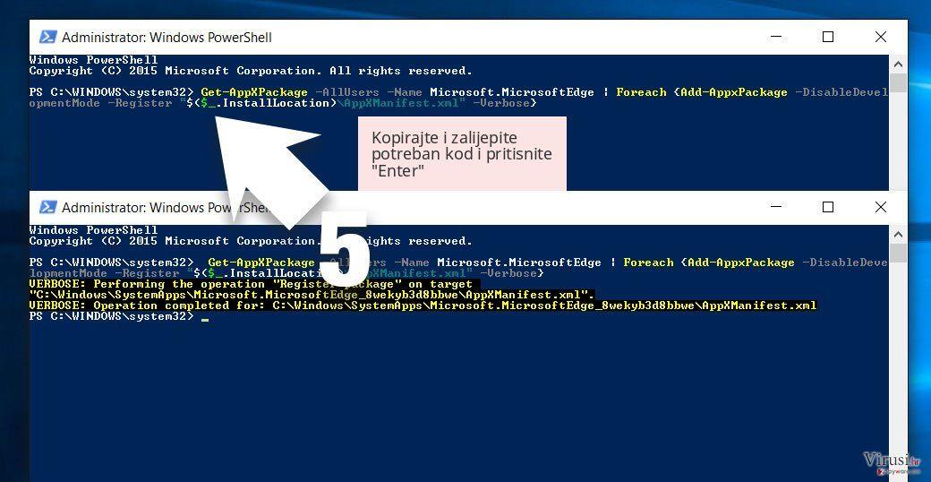Kopirajte i zalijepite potreban kod i pritisnite 'Enter'