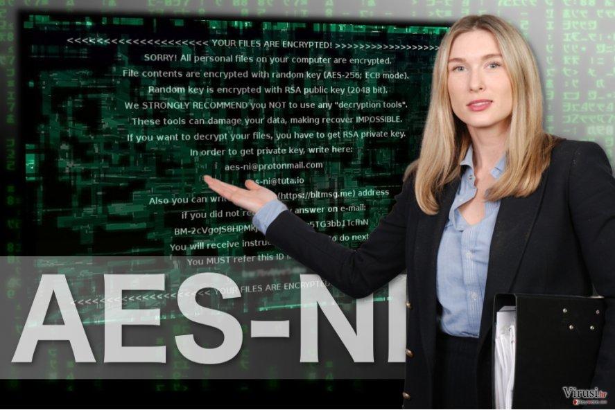 Fotografija AES-NI ransomwarea