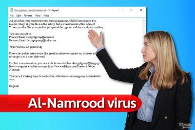 Poruka ransomware virusa Al-Namrood