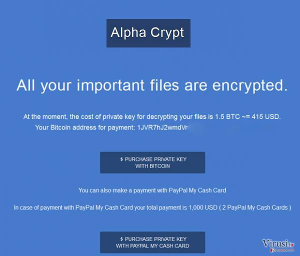 Virus Alpha Crypt fotografija