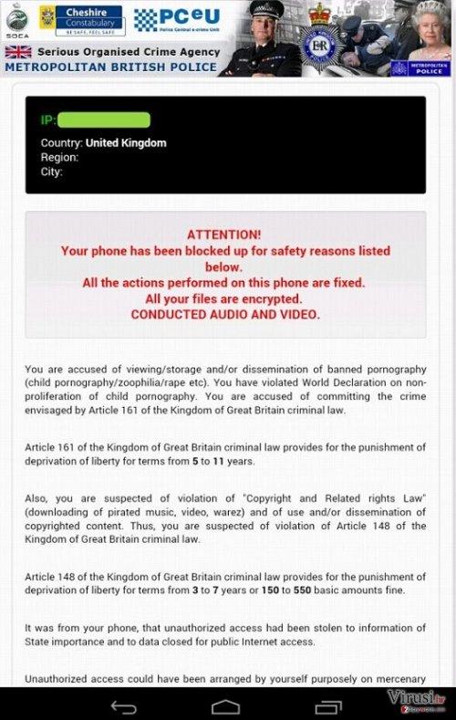 Virus Android Police fotografija