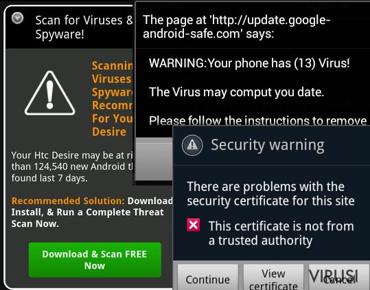 Slika Android malwarea