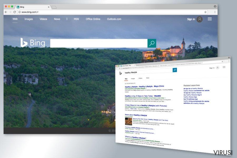 Bing virus preusmjeravanja