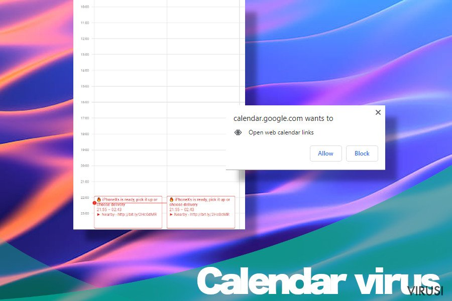 Virus Calendar na Apple uređajima