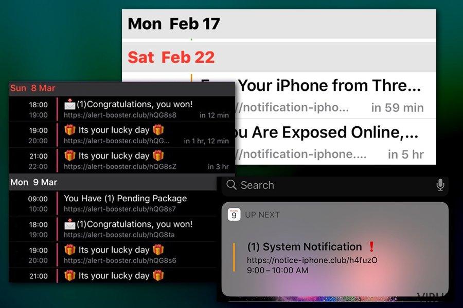 Notifikacije virusa Calendar
