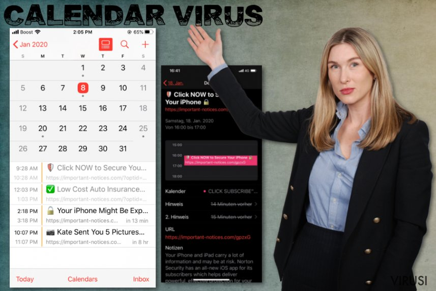 Virus Calendar za iPhone