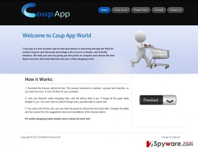Coup App Reklame fotografija