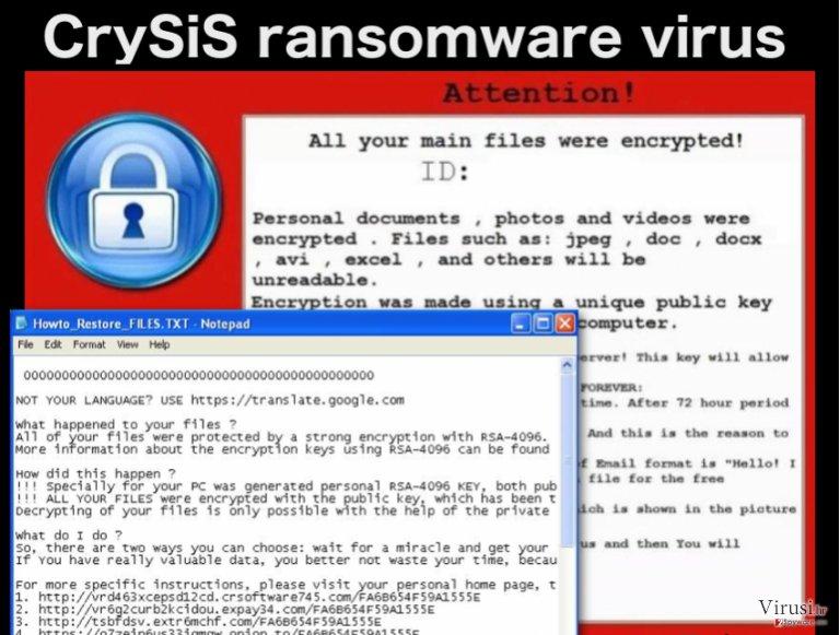 Ransmoware virus CrySiS fotografija