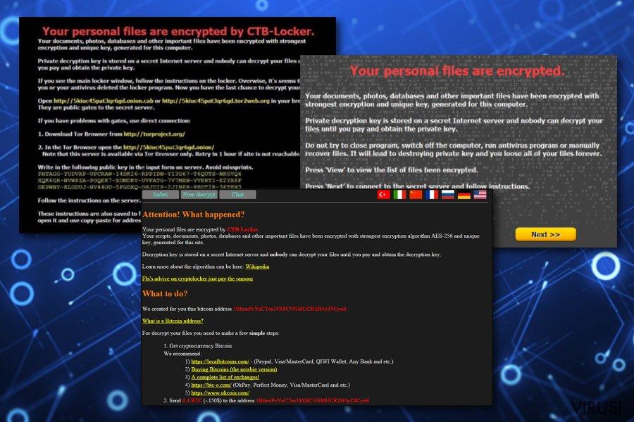 CTB Locker virus fotografija