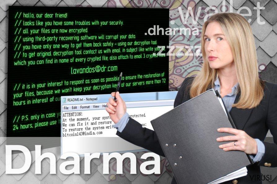 Slika ransomware virusa Dharma
