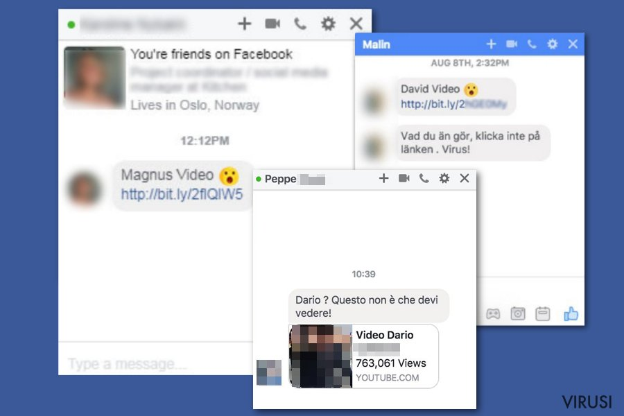 Facebook video virus