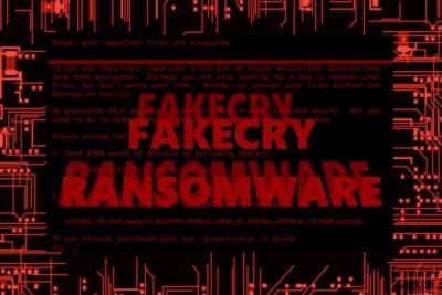 Slika koja prikazuje FakeCry virus