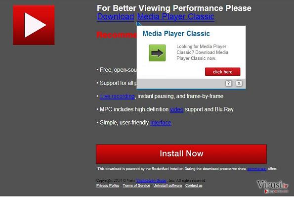 Downloadju.com pop-up virus fotografija