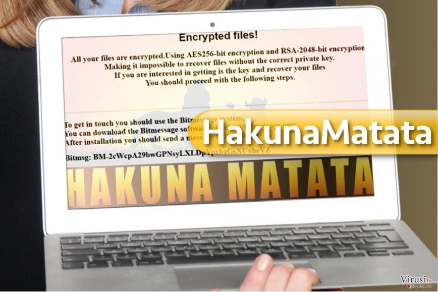 HakunaMatata ransomware virus fotografija