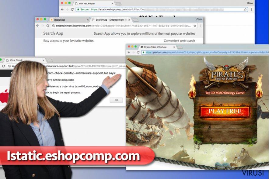 Reklame virusa Istatic.eshopcomp.com