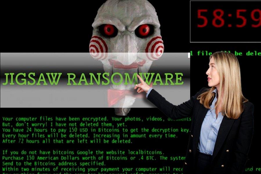 Ransomware virus Jigsaw