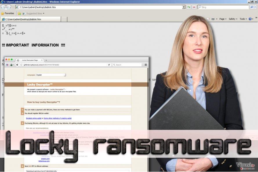 Locky ransomware fotografija