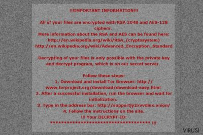 Poruka otkupnine Mole02 ransomware virusa