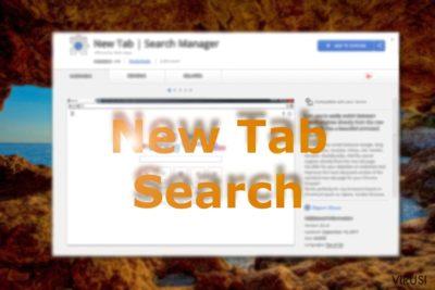 Slika koja prikazuje New Tab Search na Chrome web trgovini