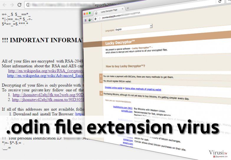 .odin file extension malware encrypts files and wants money