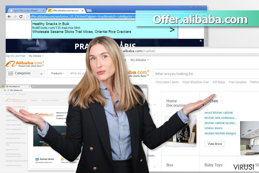 Reklame virusa Offer.alibaba.com fotografija