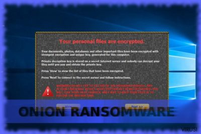 Slika prikazuje virus Onion