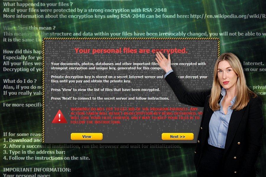 Screenshot poruke kojom Onion traži otkupninu