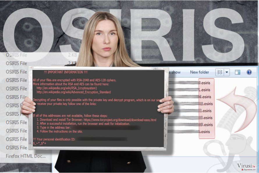 Ransomware virus Osiris fotografija