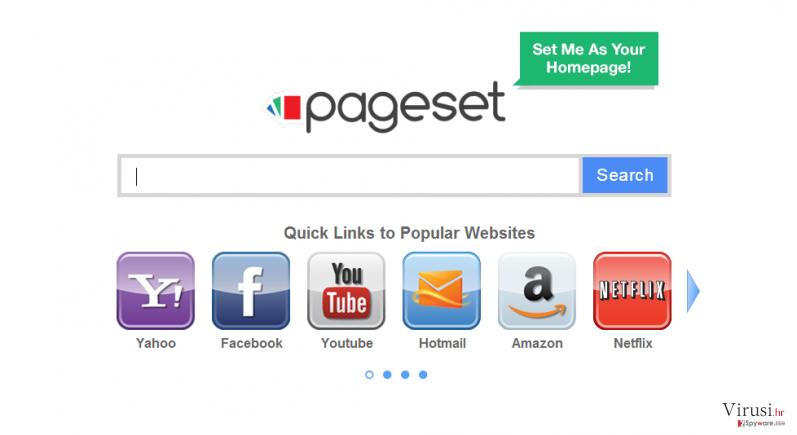 Pageset.com virus fotografija