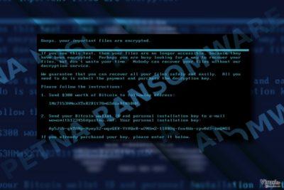 Screenshot Petnine poruke otkupnine