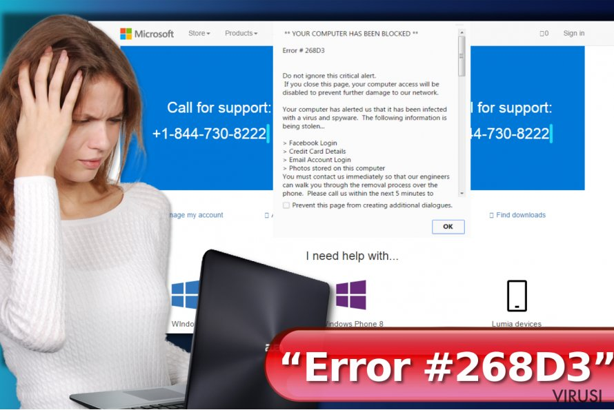 "Virus ""Error #268D3"" fotografija"