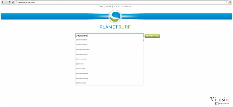 Planet-surf.com website example