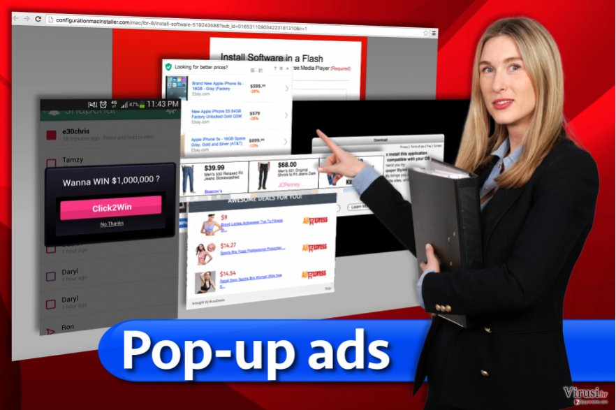 Pop-up ads fotografija