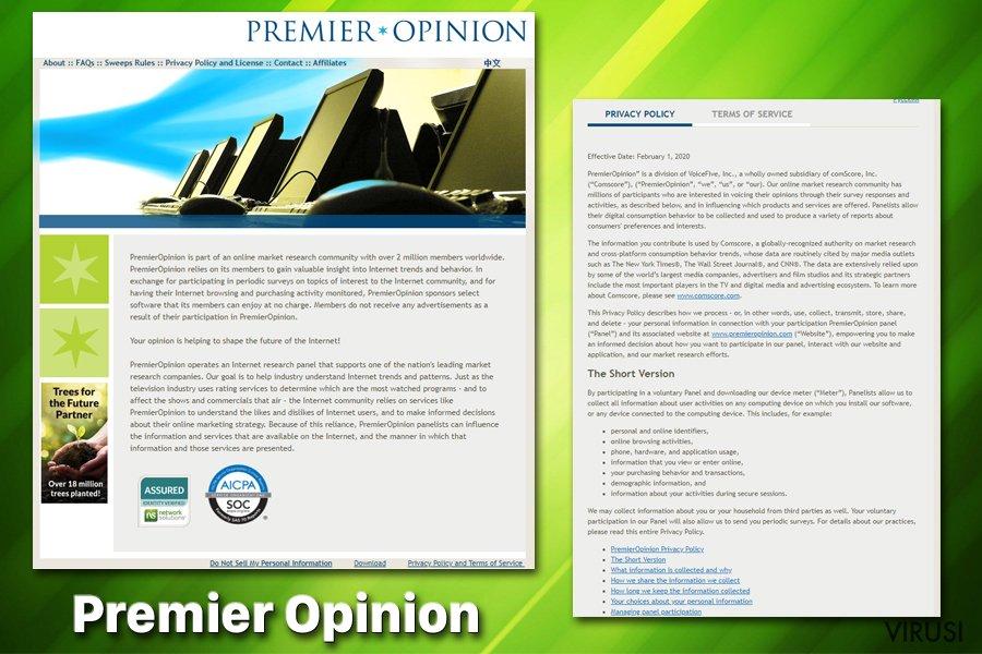 Neprijateljska aplikacija Premier Opinion