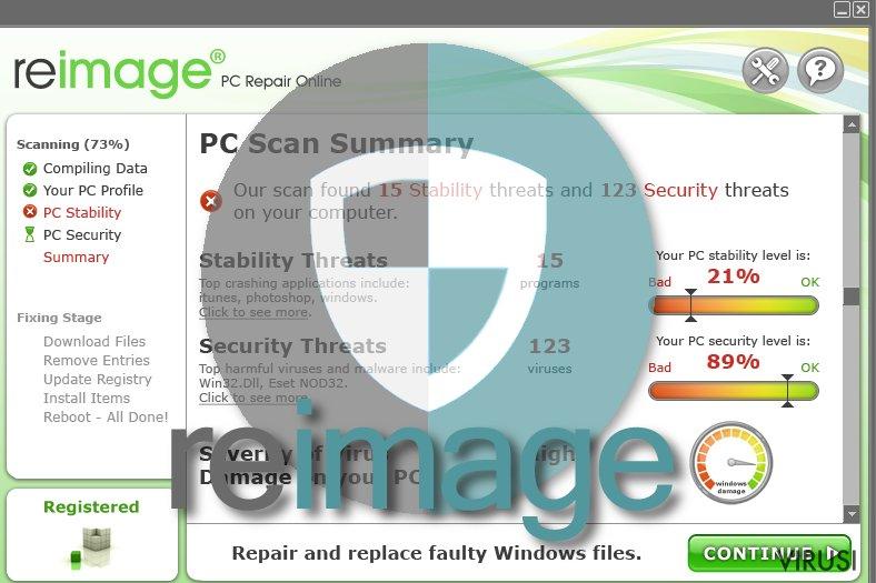 Virus Reimage fotografija