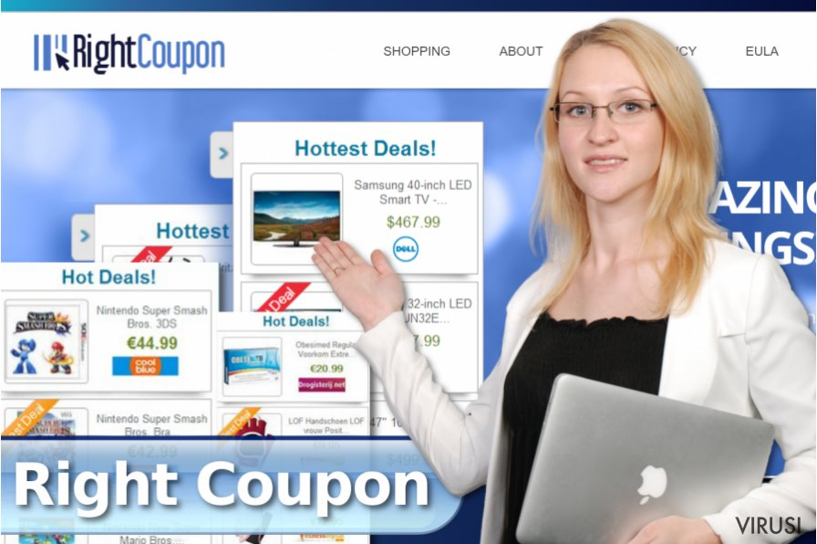 Right Coupon pop-up reklame fotografija