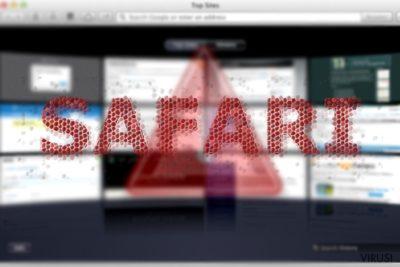 Slika koja prikazuje Safari infekciju preusmjerenja