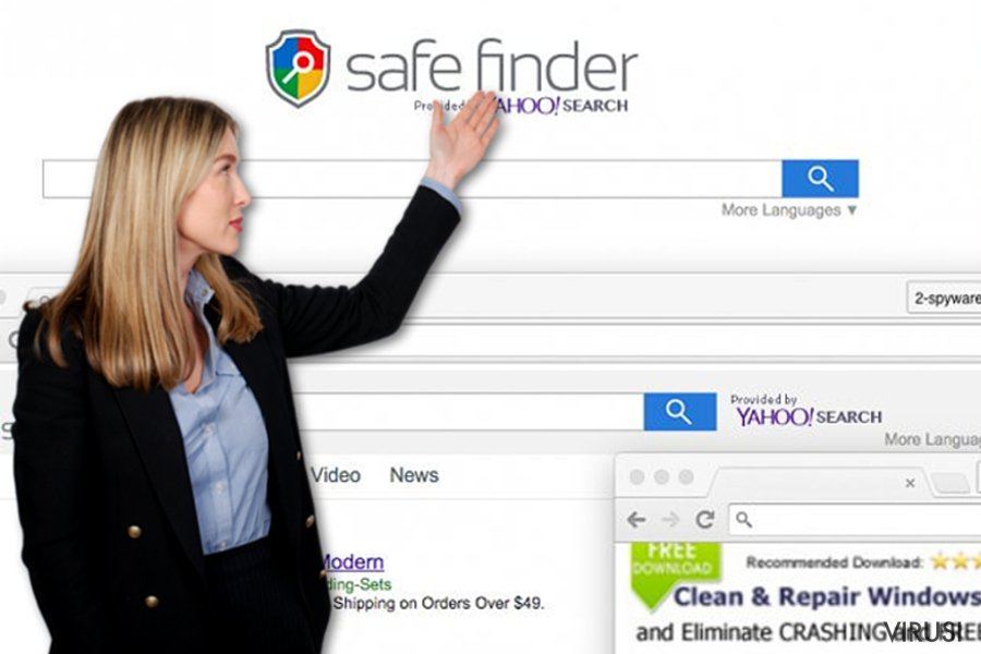 Safe Finder virus fotografija