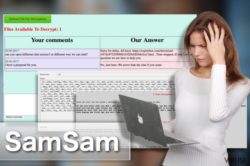 Ransomware virus SamSam