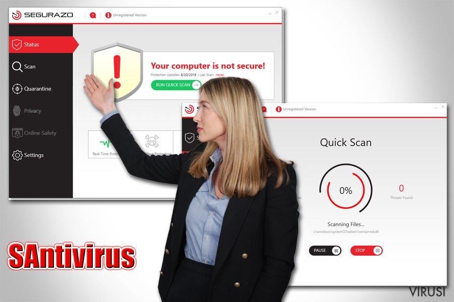 Potencijalno nepoželjan program (PUP) SAntivirus