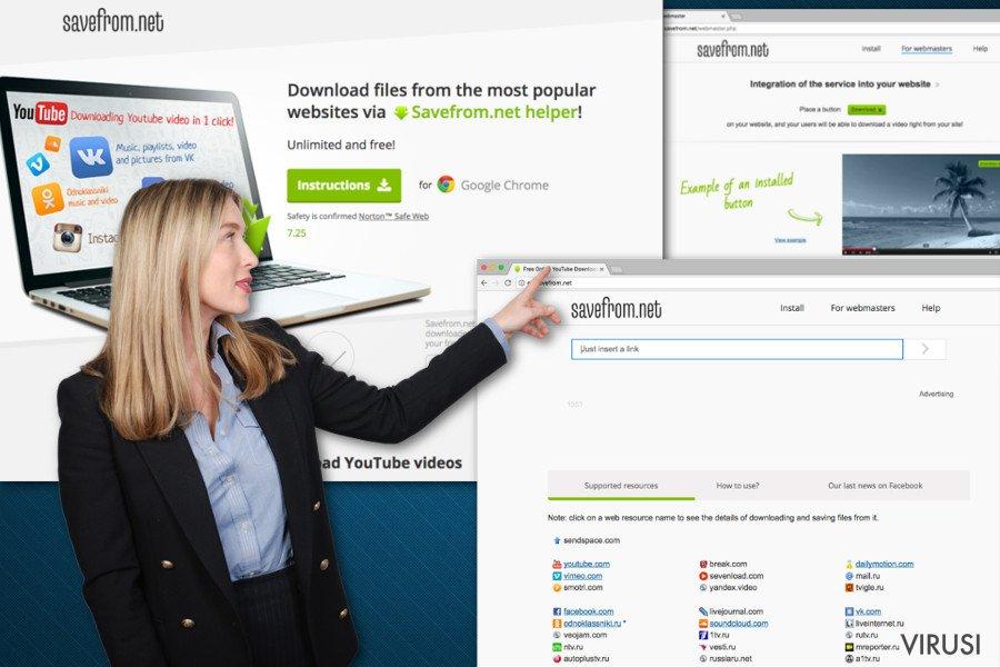 Slika pomoćnika SaveFrom.net