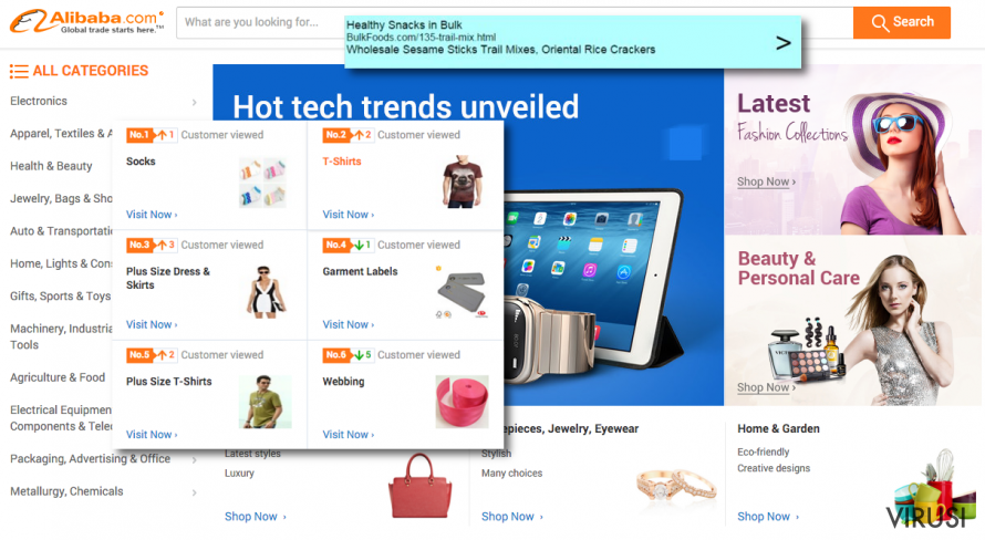Reklame virusa Offer.alibaba.com