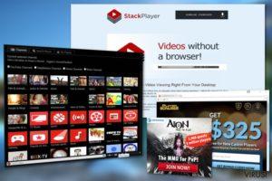 Reklame virusa Stack Player