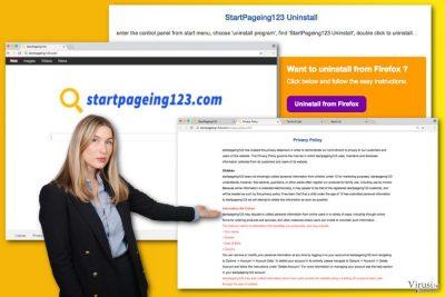Ilustracija virusa StartPageing123.com