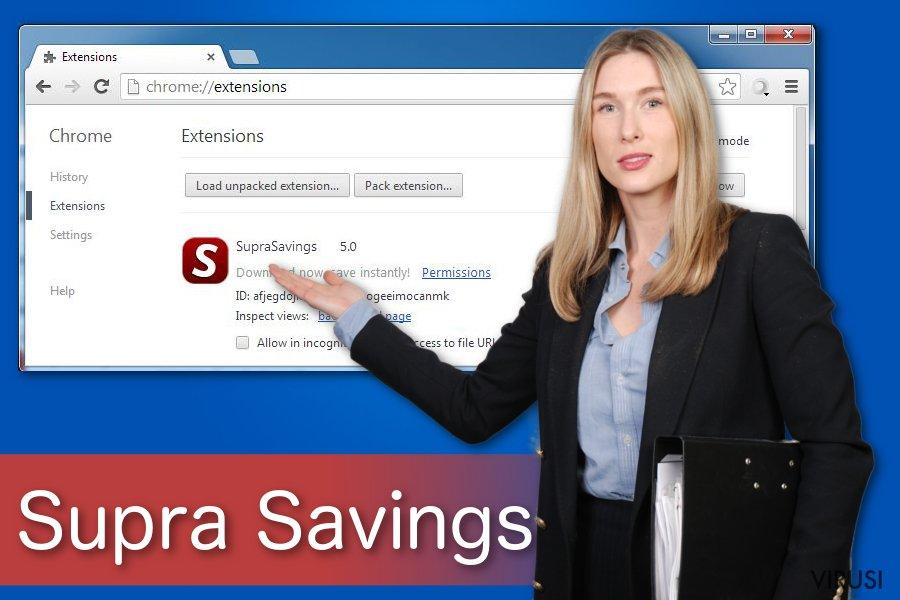 """""""Ads by Supra Savings"""" virus"""