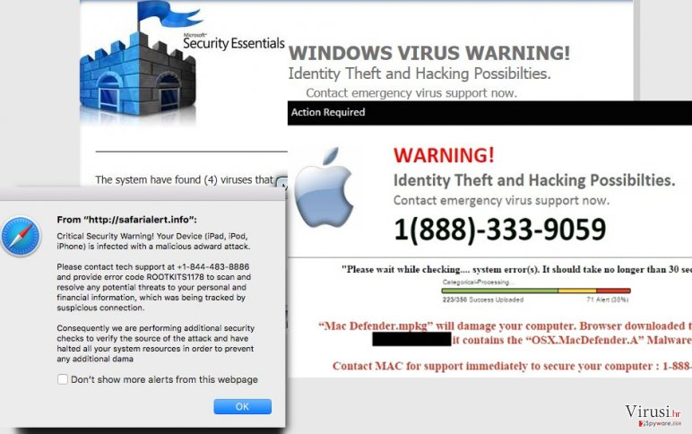 Virus Tech Support Scam fotografija