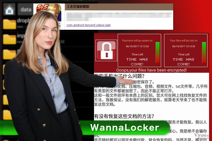 Slika WannaLocker ransomware virusa