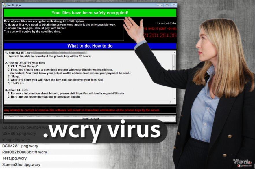 .wcry virus proširenja datoteka