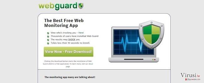 Web Guard virus fotografija