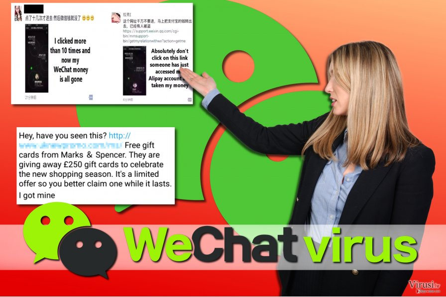Primjeri WeChat virusa